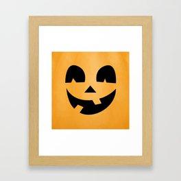 Silly Jack-O-Lantern Framed Art Print