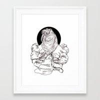 walrus Framed Art Prints featuring Walrus by Hopler Art