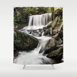 Appalachian Waterfall X - Ricketts Glen Adventure Shower Curtain