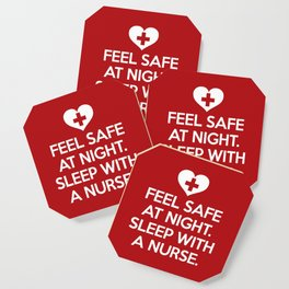 Sleep With A Nurse Funny Quote Coaster
