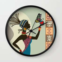 Afrocentric Chic I Wall Clock