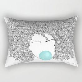 Head Full of Words Rectangular Pillow