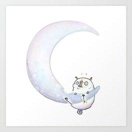 Cheese Moon Art Print