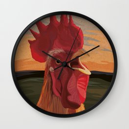 Fox Alert! Wall Clock