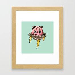Thunder Puff Framed Art Print