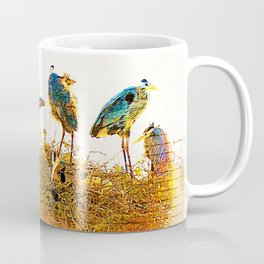 Nest Building At The Rookery Coffee Mug
