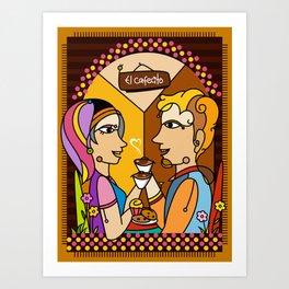 El cafecito Art Print