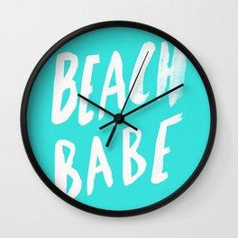 Beach Babe x Teal Wall Clock