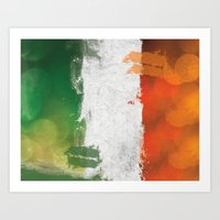 ruben ireland Art Prints featuring Ireland by Fresh & Poppy