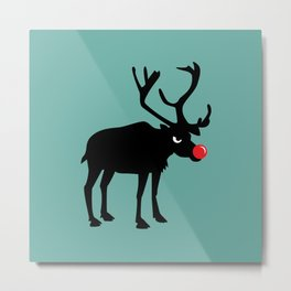 Angy Animals: Rudolph the red nosed Reindeer Metal Print