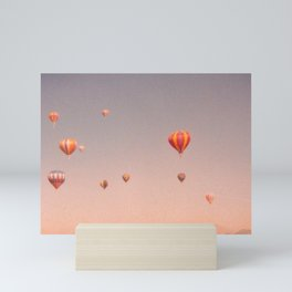 vintage hot air balloons in rio Mini Art Print