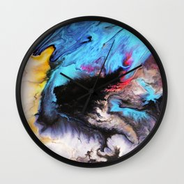 Waves Coming to Shore on Vancouver Island Wall Clock
