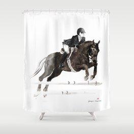 Horse Jumper II Shower Curtain