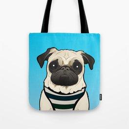 Doug the Pug - Blue BG Tote Bag