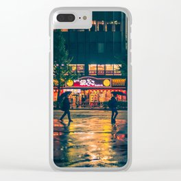 Wet street of Shinjuku Clear iPhone Case