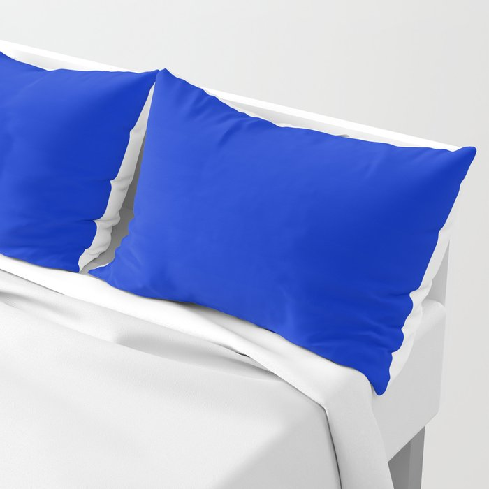 Solid Deep Cobalt Blue Color Pillow Sham