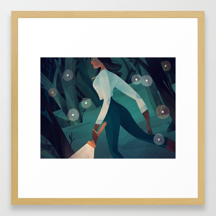 Night in the Woods Framed Art Print
