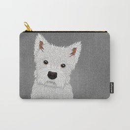 Cute West Highland Terrier Portrait Carry-All Pouch