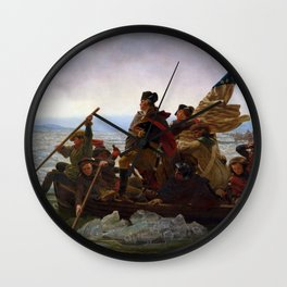 Washington Crossing the Delaware Painting Wall Clock