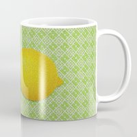 lemon Mugs featuring Lemon by Mr and Mrs Quirynen