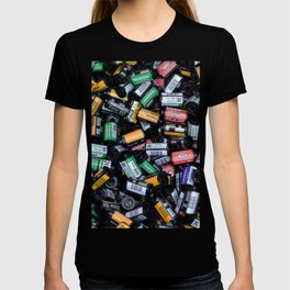 Stack of Old Camera Film T-shirt