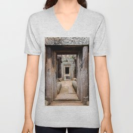 Ancient Doorway Unisex V-Neck