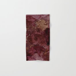 Rose, Burgundy and Merlot Watercolor Flowers Hand & Bath Towel