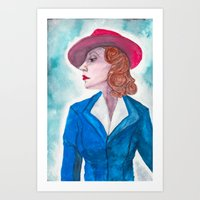 peggy carter Art Prints featuring Peggy Carter by LK'sArts