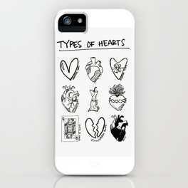 TYPES OF HEARTS iPhone Case