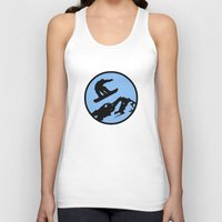 snowboarding Tank Tops featuring snowboarding 3 by Paul Simms