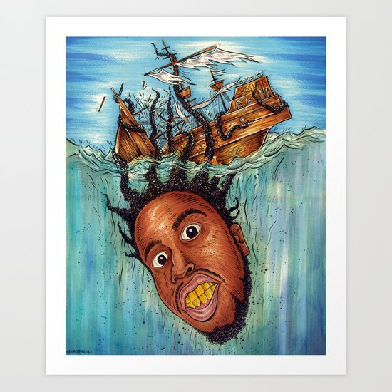 The Crackin' Art Print