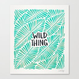 Wild Thing – Mint Palette Canvas Print