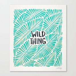 Wild Thing – Mint Palette Canvas Print