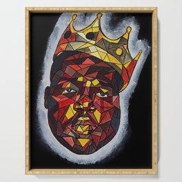 rapper,colourful,colorful,poster,wall art,fan art,music,hiphop,rap,rapper,legend,shirt,print Serving Tray