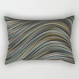 MAGS multi-colour layers create a giant wave Rectangular Pillow