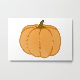 Half Moon Bay Pumpkin Metal Print