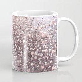 Shiny Spring Flowers - Pink Cherry Blossom Pattern Coffee Mug