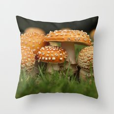 Amanita Colony... Throw Pillow