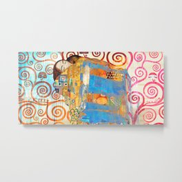 Eric Chestier - Klimt's Embrace 2.0 Metal Print