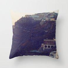 Fira at Dusk III Throw Pillow