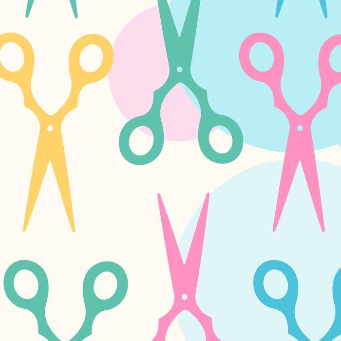 Hair Scissors Pastel Pattern Leggings