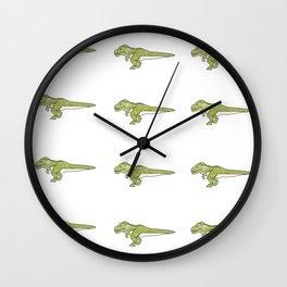 T Rex illustration  Wall Clock
