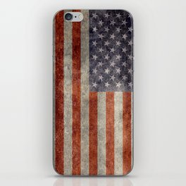 USA flag - Retro vintage Banner iPhone Skin