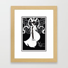 Virginia Woolf Art Nouveau Framed Art Print
