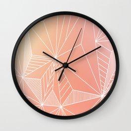 Paradise Geo Blush Wall Clock