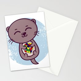 Baby Otter Cute Otter Gifts For Otter Lovers Stationery Cards