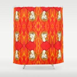 Fire Sign Shower Curtain