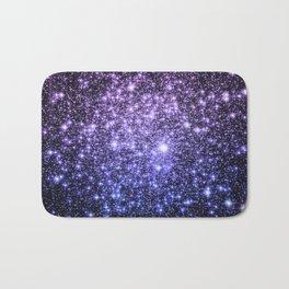 Galaxy Sparkle Stars Purple Periwinkle Blue Bath Mat