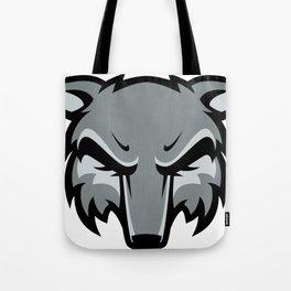 Gray fox head Tote Bag