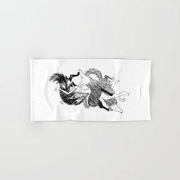 Femme Loup Tattoo Hand & Bath Towel